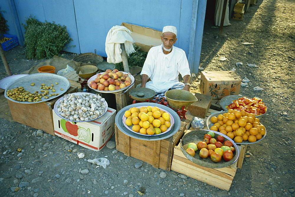 Man with wares, Seeb, Oman, Middle East