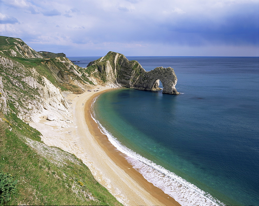 Durdle Door stone arch, Dorset, England, United Kingdom, Europe