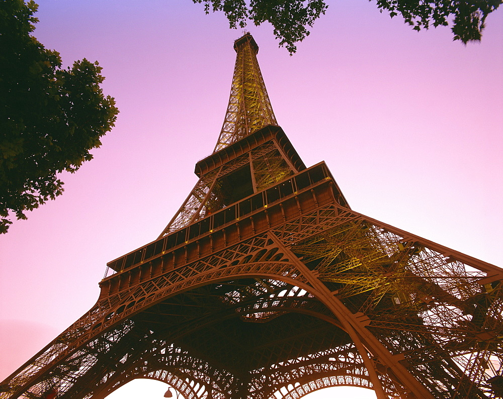 The Eiffel Tower at dusk, Paris, France, Europe