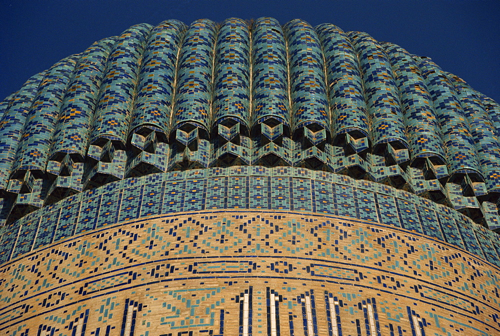 Detail of dome of the Gur-Emir Mausoleum, UNESCO World Heritage Site, Samarkand, Uzbekistan, Central Asia, Asia