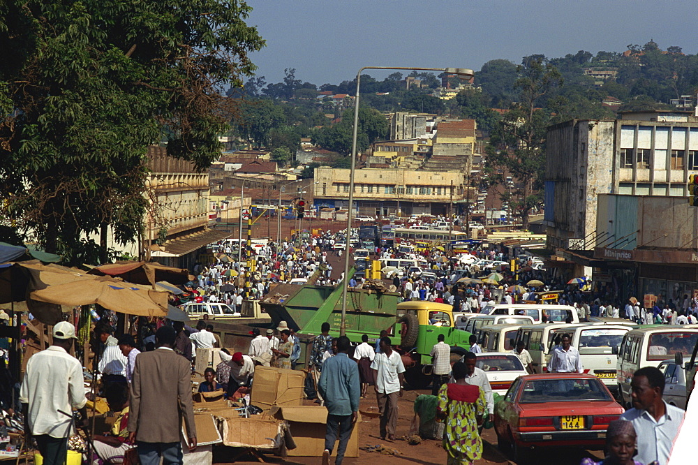 Rush hour, Luwum Street, Kampala, Uganda, East Africa, Africa