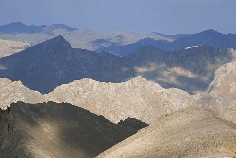 View over Yedigoller Plateau from Mount Embler, Taurus Mountains, Anatolia, Turkey, Asia Minor, Eurasia