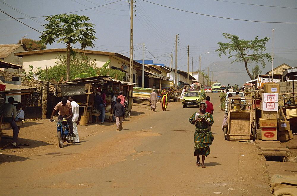 Street scene, Man, Ivory Coast, West Africa, Africa