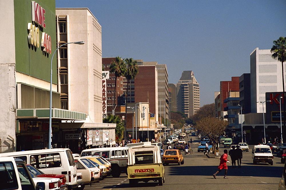 Street leading to ZANU-PF building, Harare, Zimbabwe, Africa