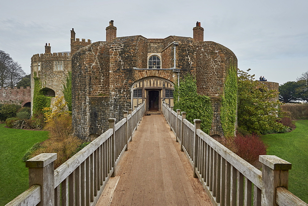 Walmer Castle and Gardens, 16th century artillery fort built for Henry VIII, home to Duke of Wellington, Deal, Kent, England, United Kingdom, Europe - 358-613