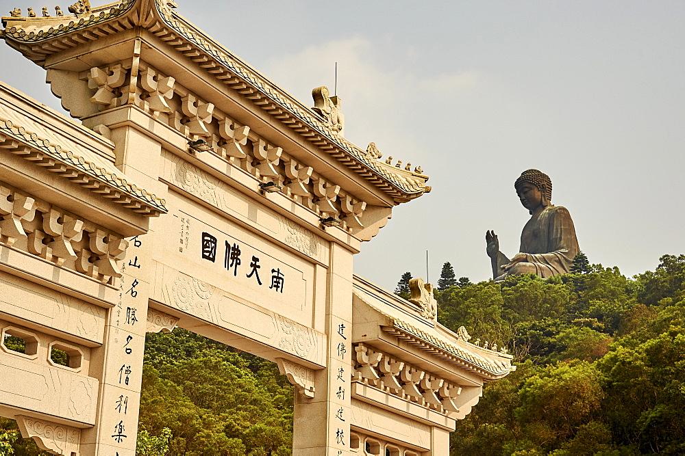 Big Buddha, Po Lin Monastery, Ngong Ping, Lantau Island, Hong Kong, China, Asia - 358-635