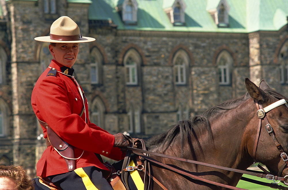 Royal Canadian Mounted Policeman, Ottawa, Canada, North America - 358-96