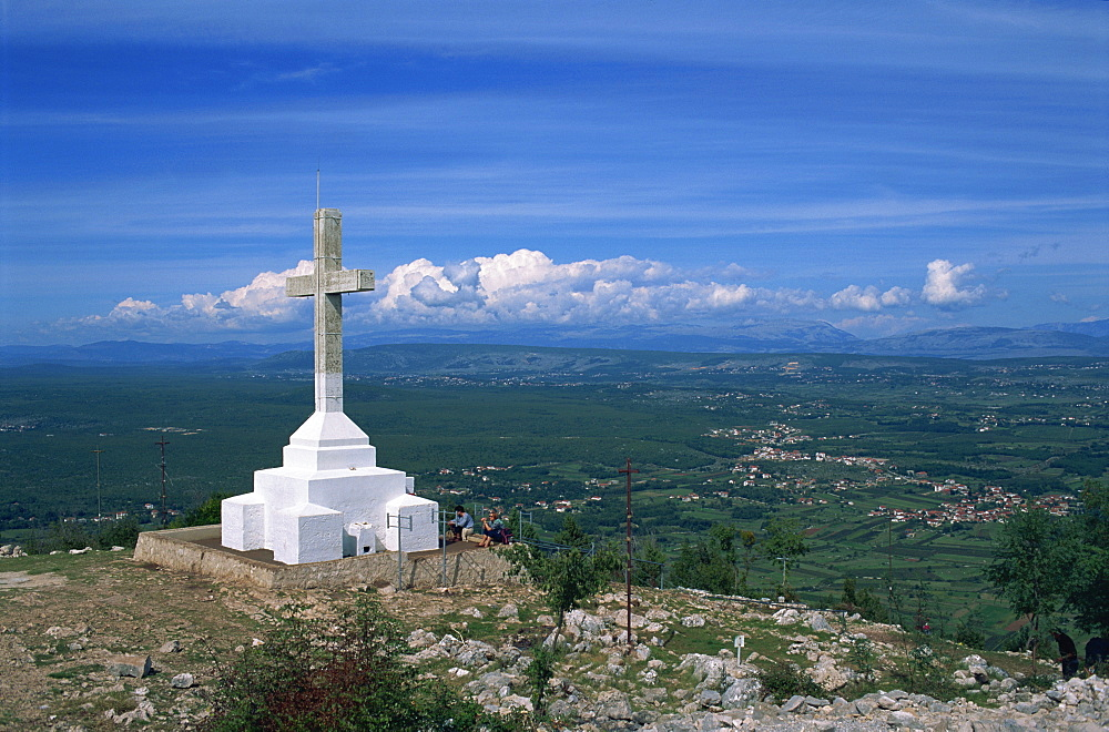 Summit of the Hill of the Cross, Krizevac, Medjugorje, Bosnia Herzegovina, Europe - 365-3030