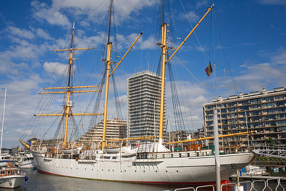 Mercator floating museum ship at marina in Ostend, Belgium - 365-3855