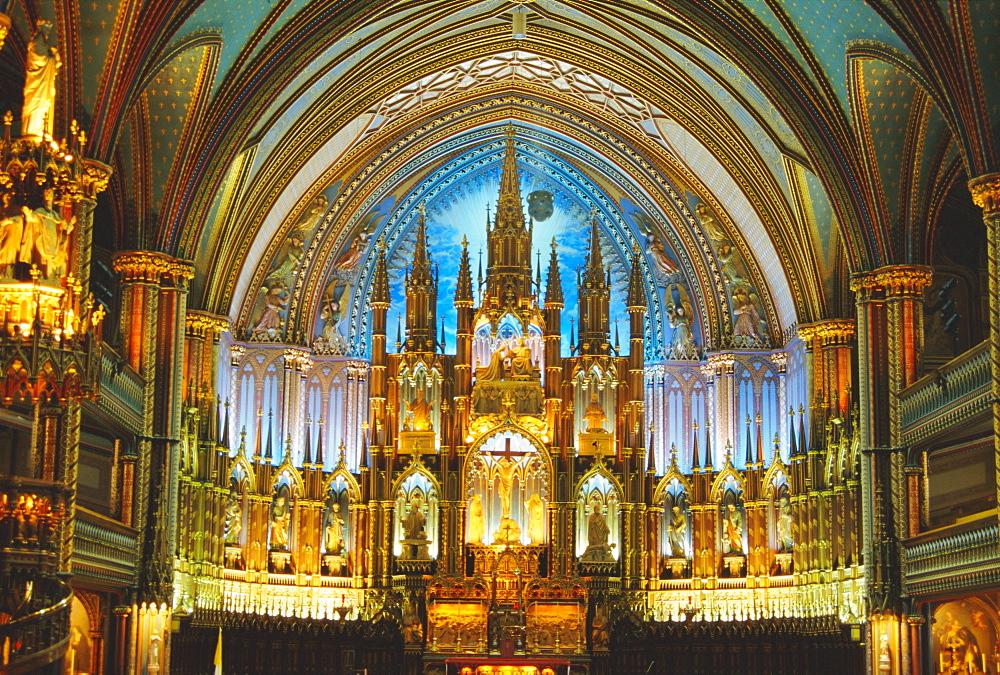 Interior, Basilica of Notre Dame, Montreal, Quebec Province, Canada
