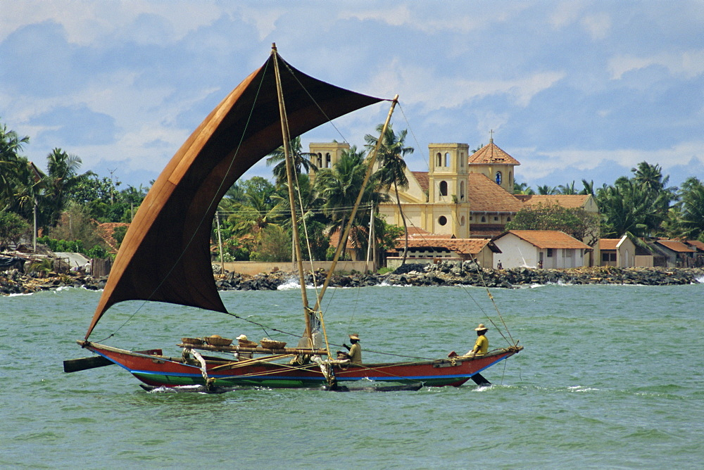Oruva fishing catamaran, Negombo, Sri Lanka