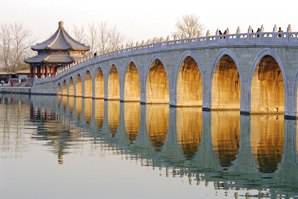 Seventeen Arch Bridge, Kunming Lake, Summer Palace, Beijing, China - 367-3546