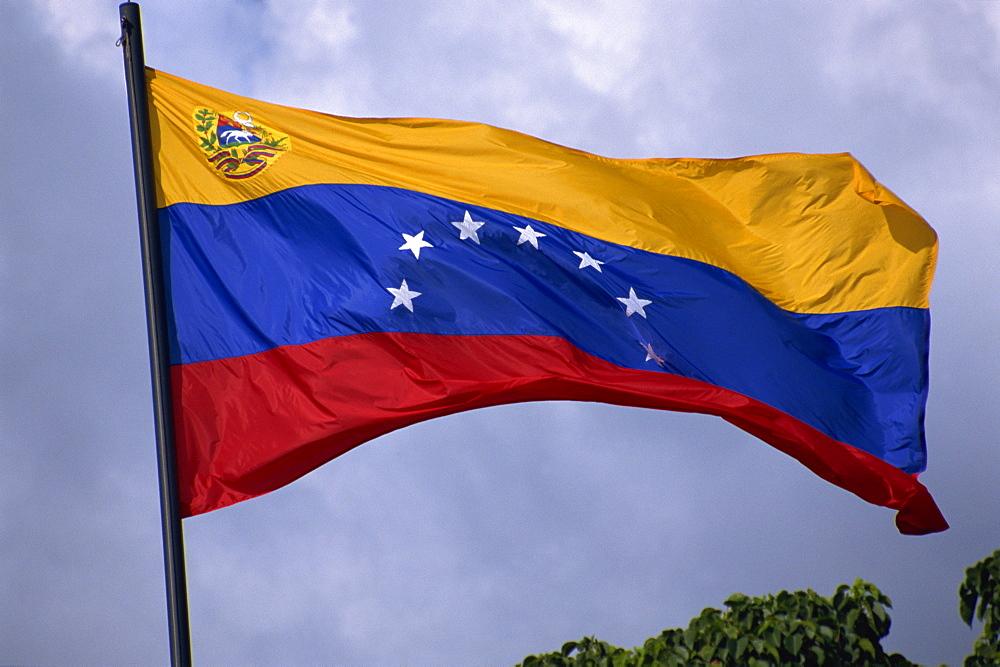 Venezuelan flag, Venezuela, South America