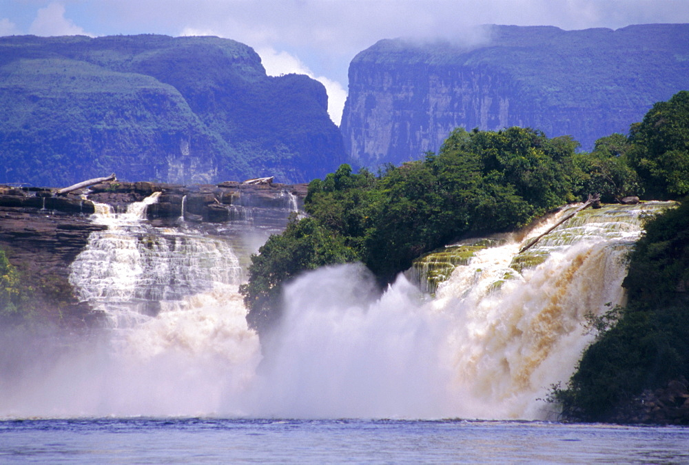 Canaima Lagoon and falls, Canaima National Park, Venezuela, South America