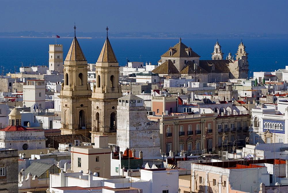 Iglesia del Carmen, San Antonio skyline, Cadiz, Andalucia, Spain, Europe