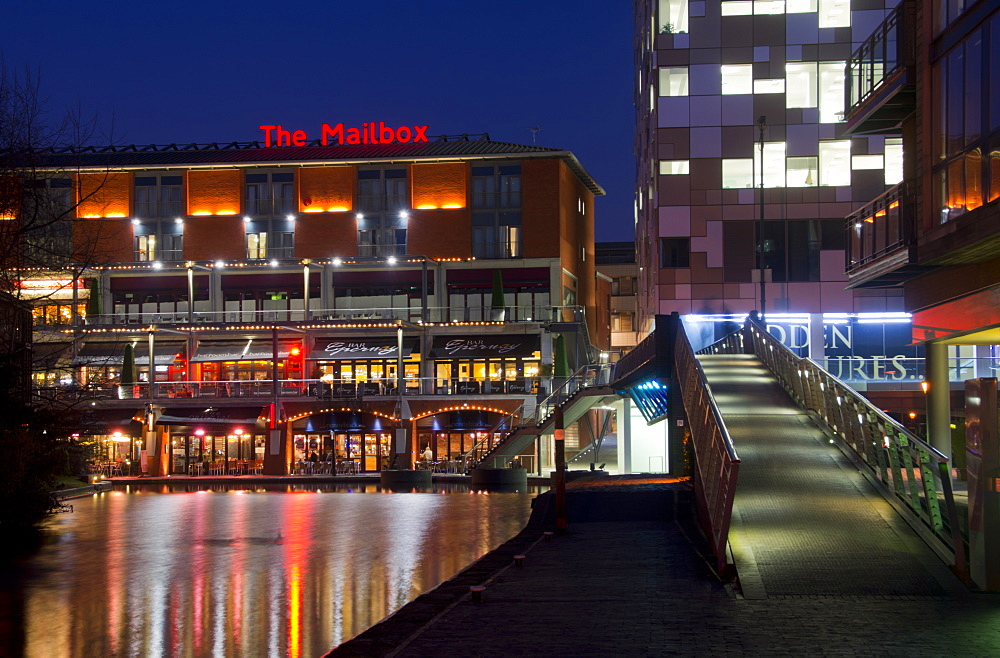 The Mailbox, Canal area, Birmingham, Midlands, England, United Kingdom, Europe