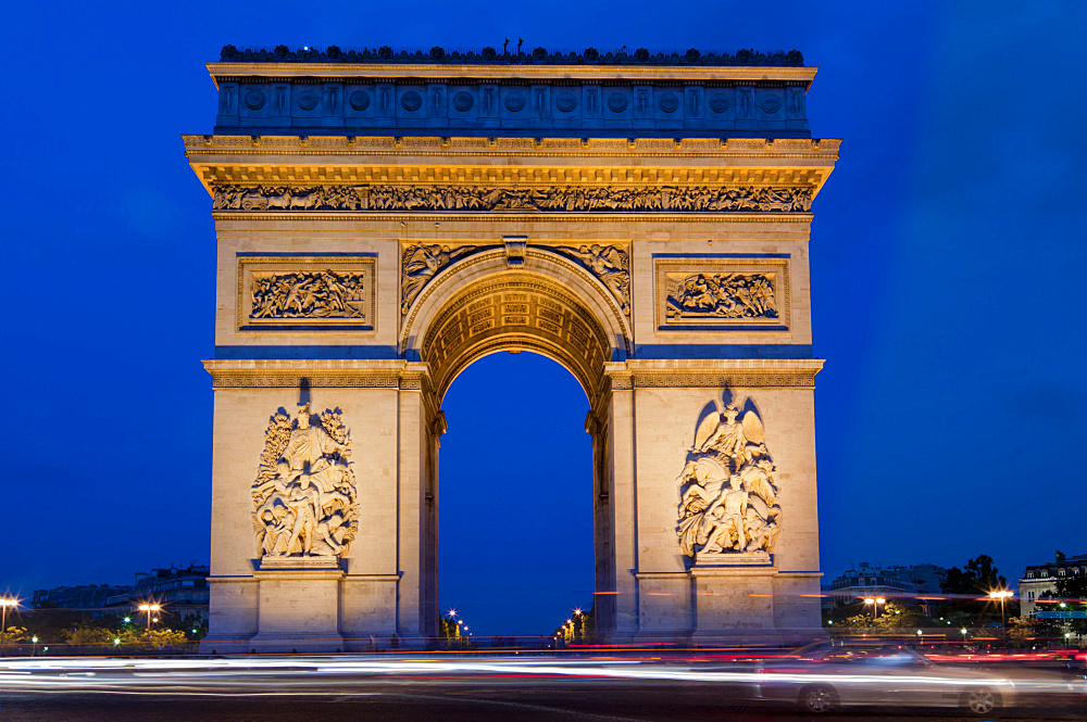 Arc de Triomphe, Paris, France, Europe - 367-5847