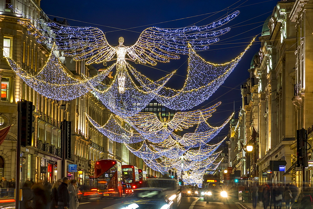 Regent Street Christmas lights 2016, London, England, United Kingdom, Europe