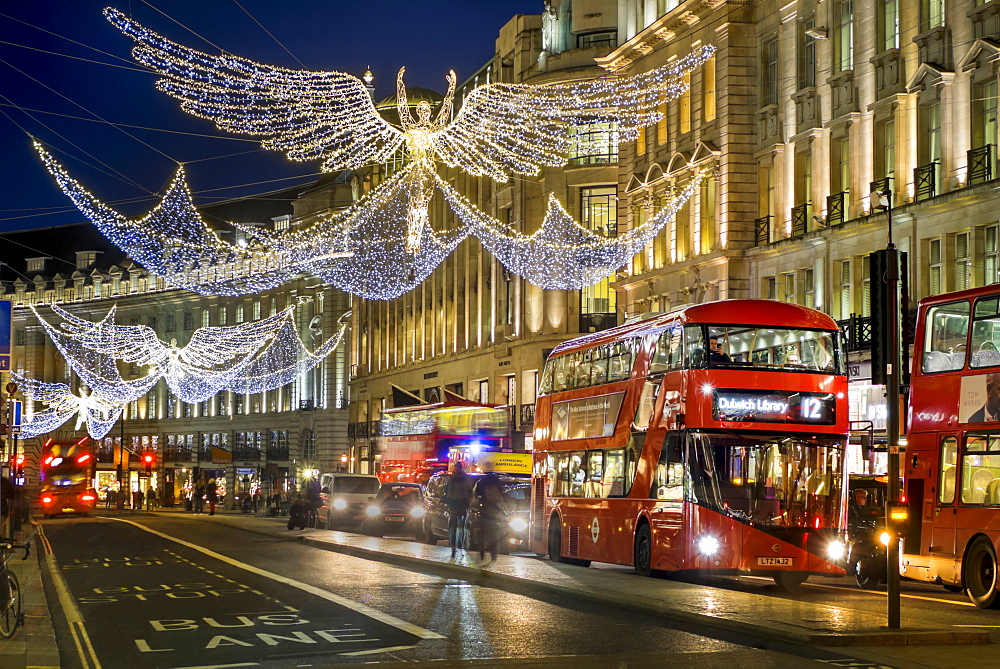 Regent Street Christmas lights in 2016, London, England, United Kingdom, Europe