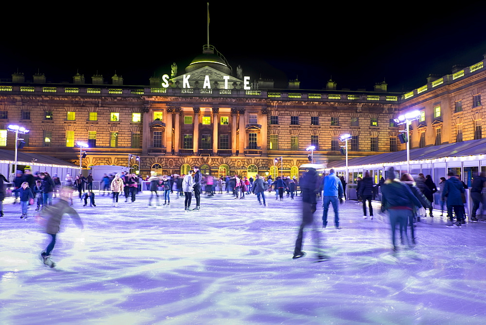 Ice skating, Somerset House, London, England, United Kingdom, Europe - 367-6112