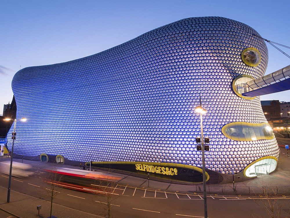 Selfridges at dusk, Birmingham, England, United Kingdom, Europe - 367-6130