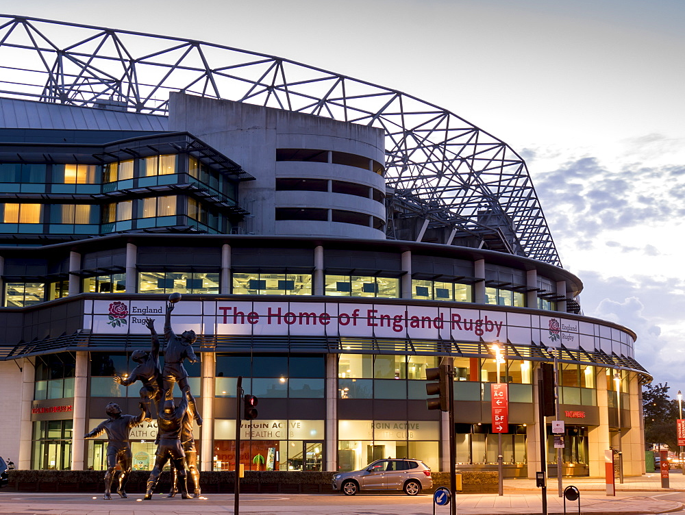 Twickenham Rugby Stadium dusk, Greater London, England, United Kingdom, Europe - 367-6139