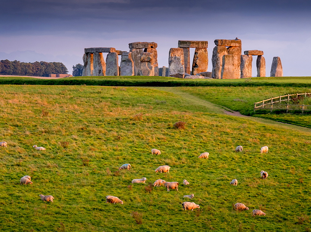 Stonehenge, UNESCO World Heritage Site, Salisbury Plain, Wiltshire, England, United Kingdom, Europe - 367-6145