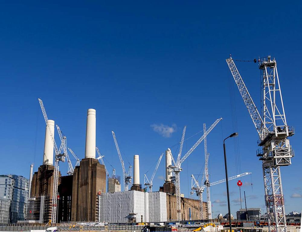 Battersea Power Station being redeveloped, London, England, United Kingdom, Europe - 367-6191