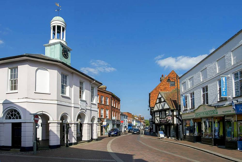 Market Place high street, Godalming, Surrey, England, United Kingdom, Europe - 367-6197