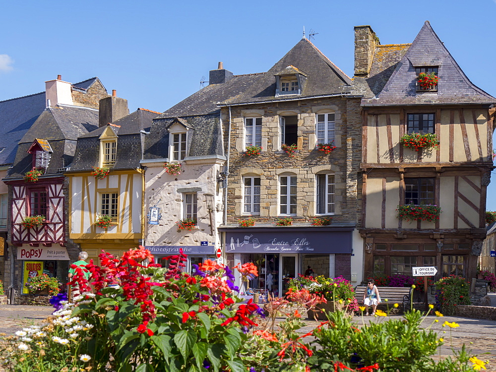 Malestroit town. Morbihan, Brittany, France, Europe - 367-6221