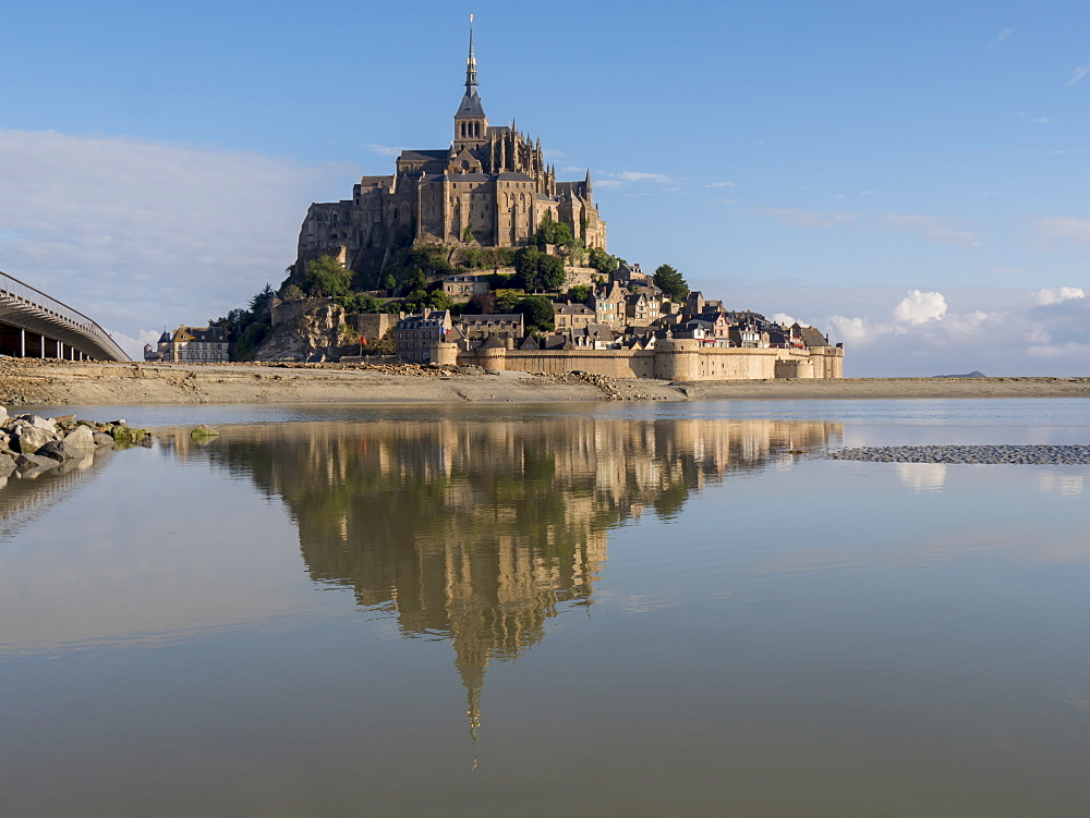 Mont St. Michel, UNESCO World Heritage Site, holy island and peninsula, Normandy, France, Europe