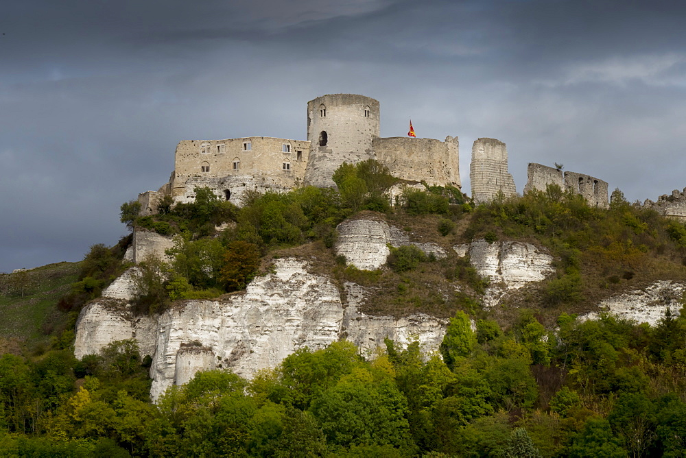 Chateau Gaillard, Les Andelys, Eure, Normandy, France, Europe - 367-6294