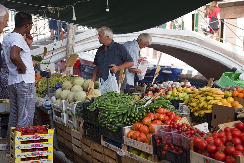 Barge market Rio San Barnaba, Venice, Veneto, Italy, Europe - 373-1237