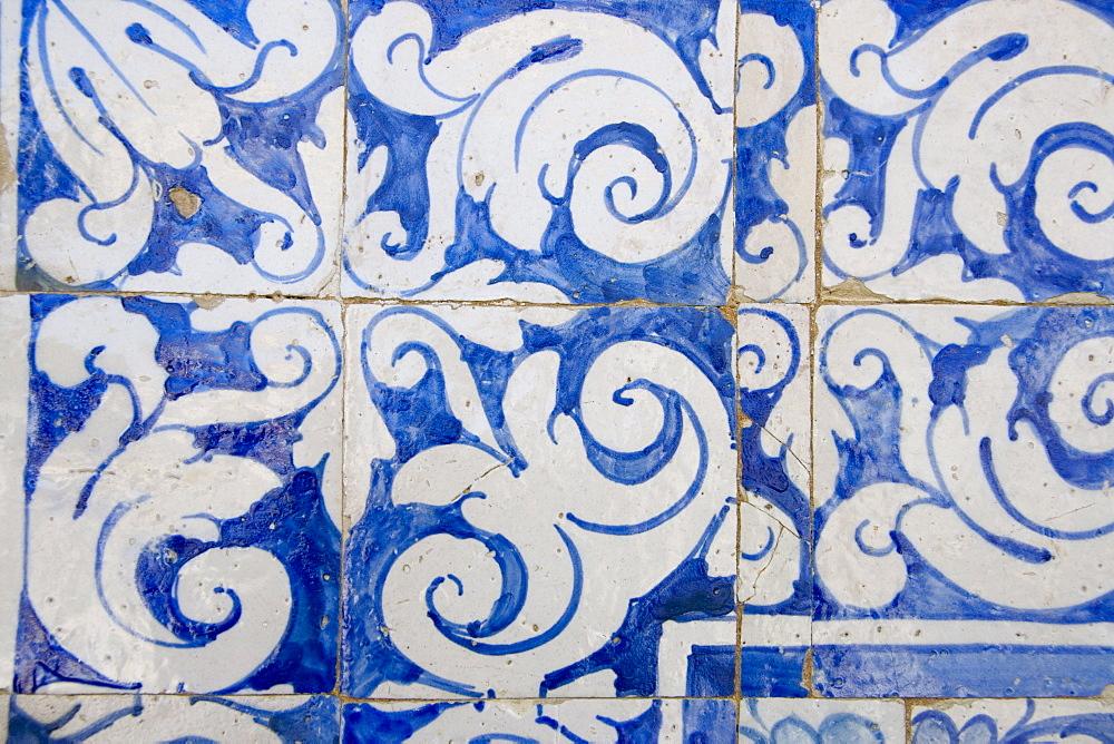 Medieval tilework Evora University, Evora, Alentejo, Portugal, Europe - 375-690