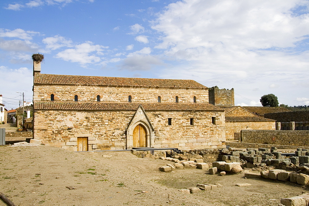 Palaeo-Christian basilica (cathedral) in Idanha-a-Velha (site of Roman Egitania), Beira Baixa, Portugal, Europe - 375-701