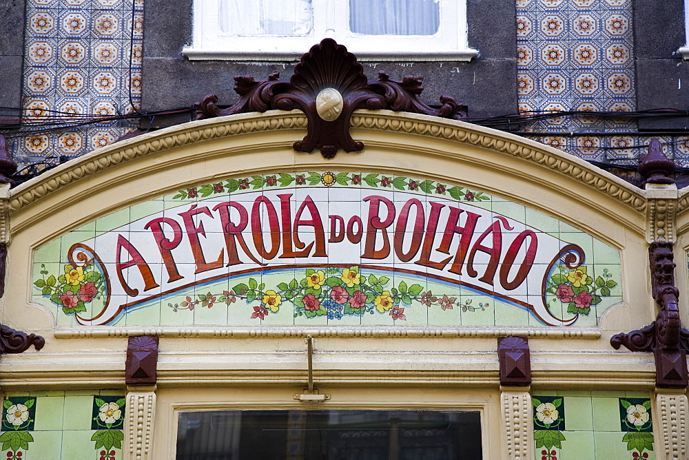 A Perola Do Bolhao, Art Nouveau cafe and delicatessen, Oporto, Portugal, Europe - 375-712