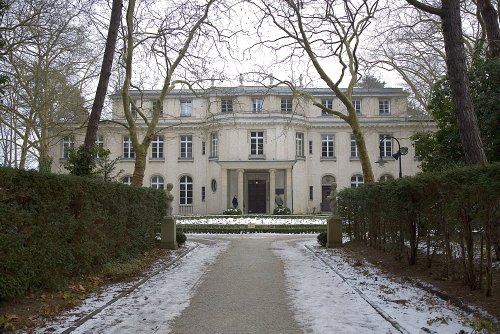 View from main drive of The Final Solution villa at Wannsee, Berlin, Germany, Europe - 375-718