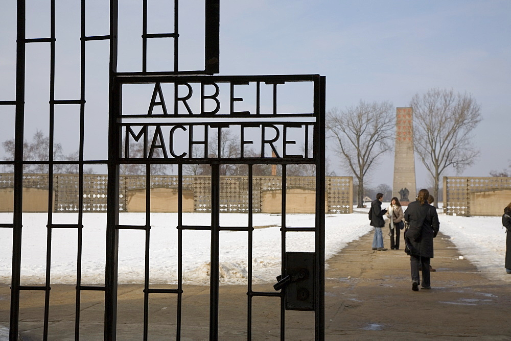 Main entrance, Gedenkstatte Sachsenhausen (concentration camp memorial), East Berlin, Germany, Europe - 375-724