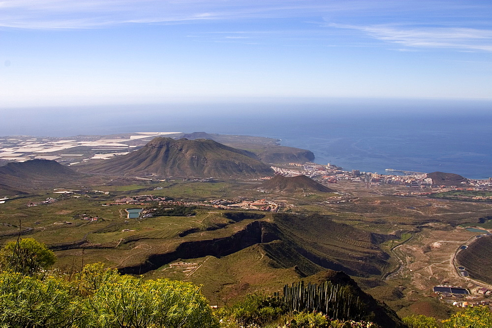 Playa de las Americas resort, looking south west from El Roque, Arona, south west Tenerife, Canary Islands, Spain, Atlantic, Europe - 375-753