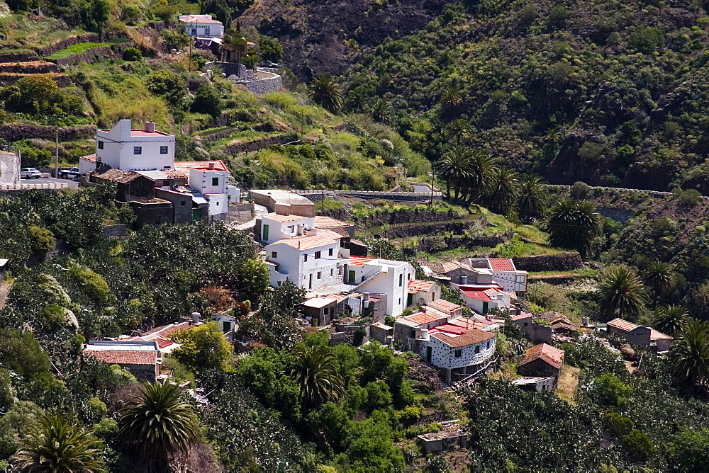 The hillside village of Masca, Tenerife, Canary Islands, Spain, Europe - 375-772