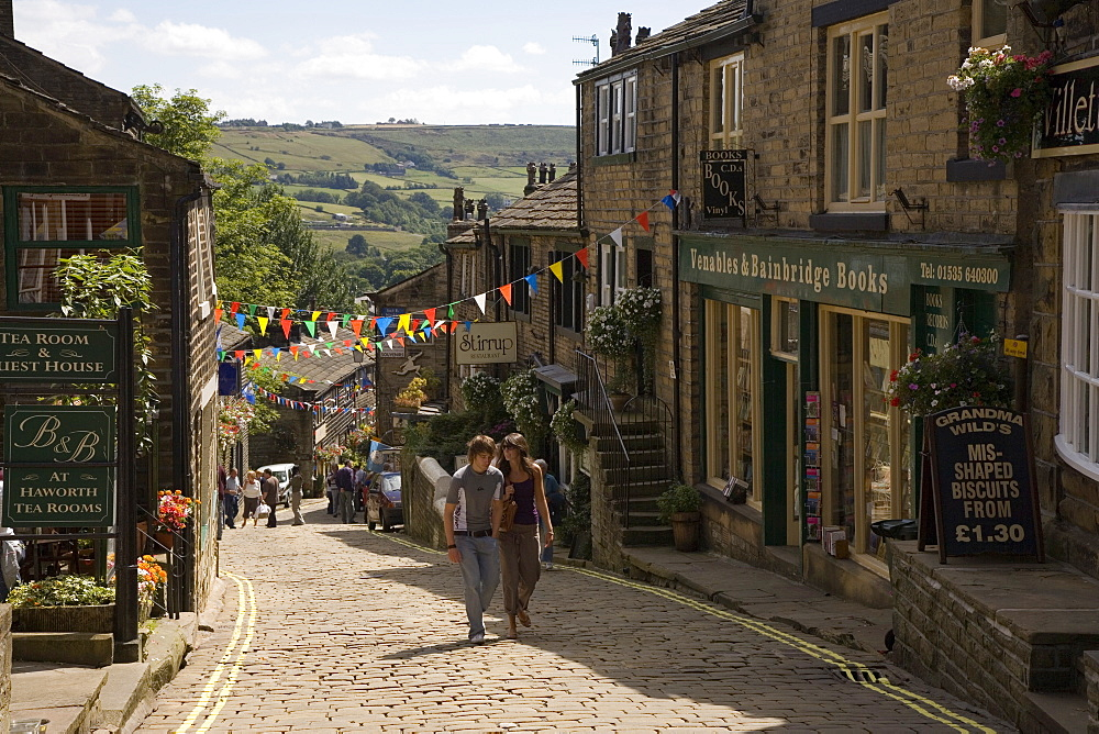 Haworth, Bronte Country, West Yorkshire, England, United Kingdom, Europe - 375-784