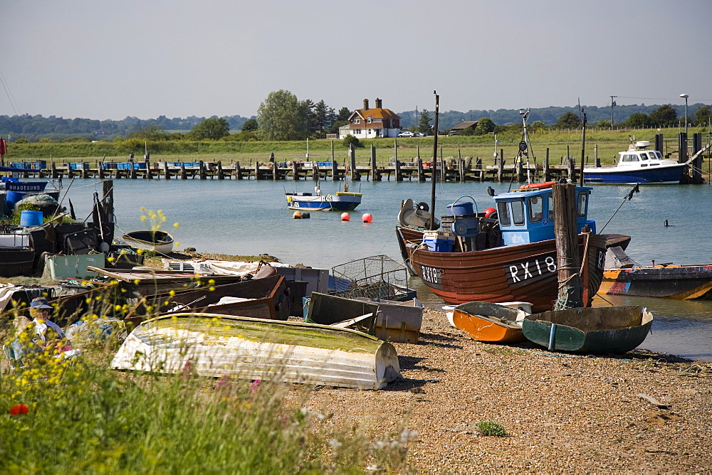 Rye Harbour, Rye, River Rother, East Sussex coast, England, United Kingdom, Europe - 375-806