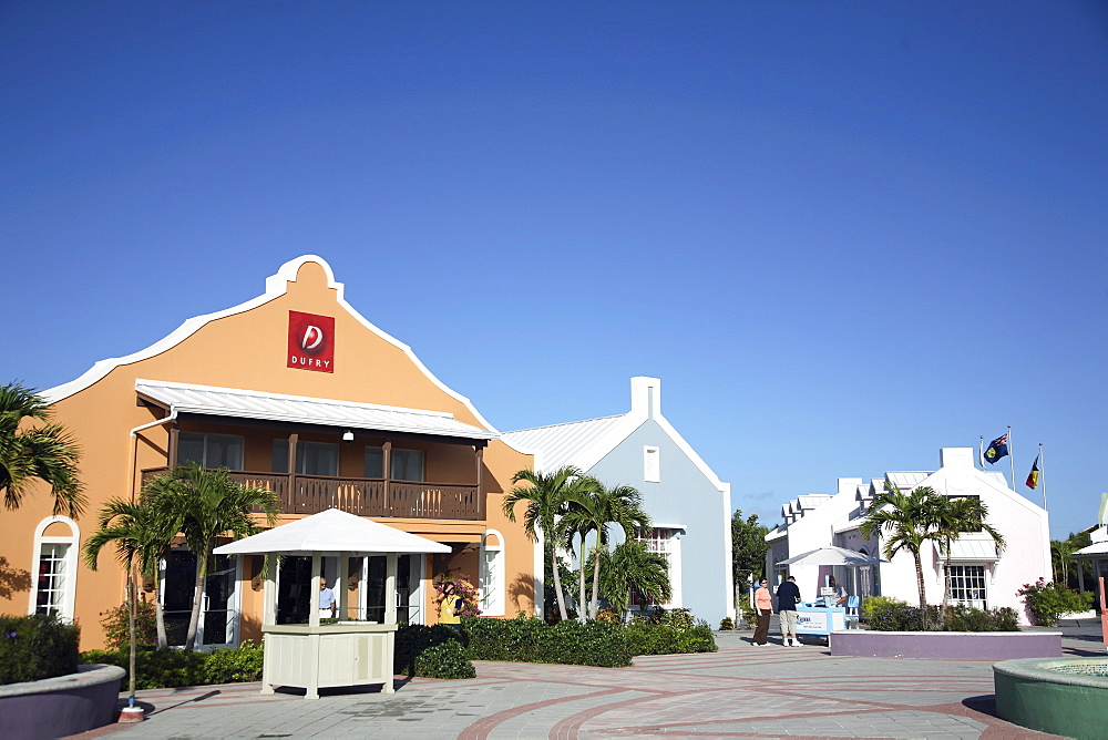 Shopping centre in Cockburn Town, Grand Turk Island, Turks and Caicos Islands, West Indies, Caribbean, Central America