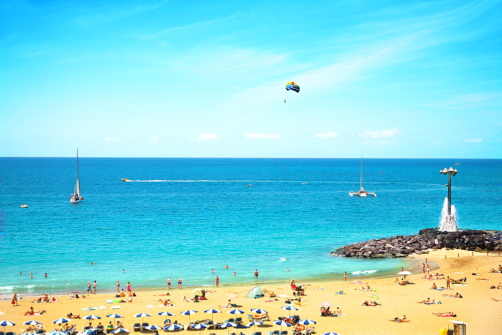 Playa de Las Vistas beach, Los Cristianos, Tenerife, Canary Islands, Spain, Atlantic, Europe
