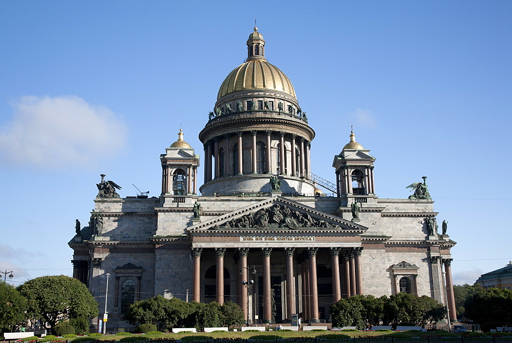 St. Isaacs Cathedral, St. Isaacs Square, St. Petersburg, Russia, Europe
