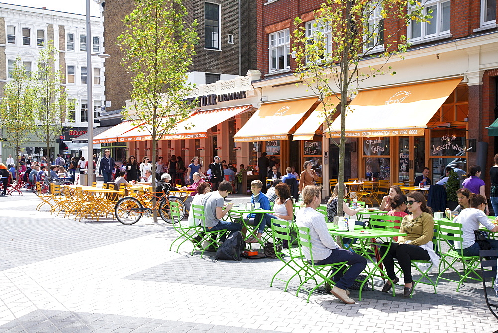 Restaurants around South Kensington Station, Kensington, London, England, United Kingdom, Europe - 377-3958