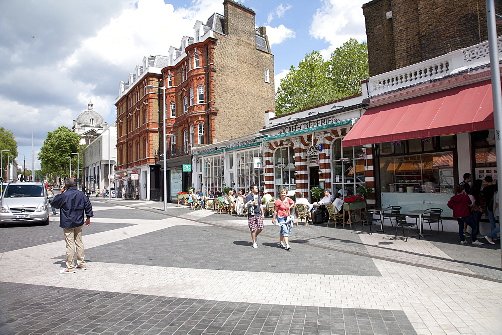Restaurants around South Kensington Station, Kensington, London, England, United Kingdom, Europe - 377-3960