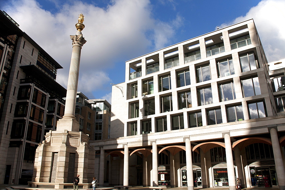 Paternoster Square Column, Paternoster Square, City of London, England, United Kingdom, Europe - 377-3967