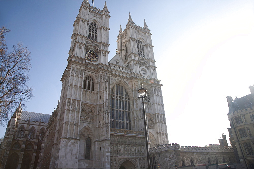 Front entrance to Westminster Abbey, City of Westminster, London, England, United Kingdom, Europe - 377-3973