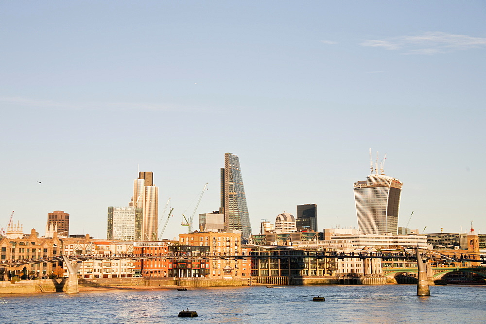 The skyline of the City of London showing Tower 42, the Leadenhall Building and 20 Fenchurch Street (The Walkie-Talkie), London, England, United Kingdom, Europe - 377-3990